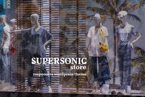 Supersonic Store responsive Wordpress theme